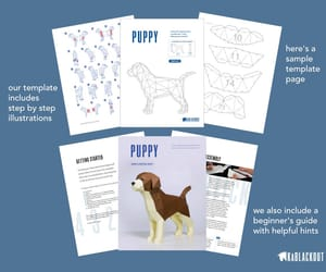 crafts, things to make, and papercraft puppy image