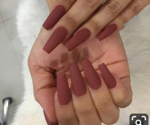 girl, nails, and style image