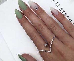 green, nails, and long nails image
