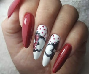 bow, hearts, and long nails image