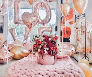 love, rose gold, and valentine's day image