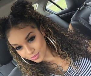 curly hair, earrings, and hair image