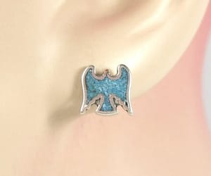 charm, earrings, and sterling silver image