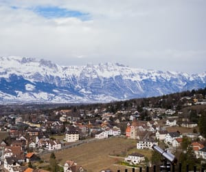 Alps, village, and mountain image