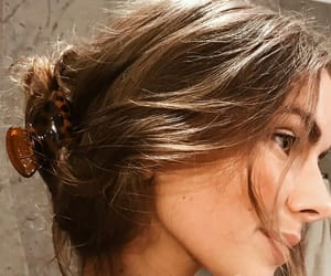 brown hair, girl, and jawline image