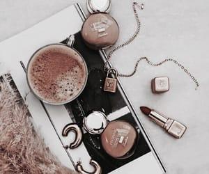 coffee, fashion, and lipstick image