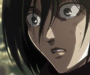 reaction, mikasa, and shingeki no kyojin image