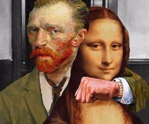 art, van gogh, and mona lisa image