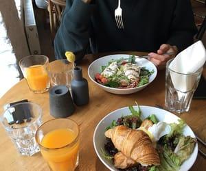 breakfast, food, and orange juice image