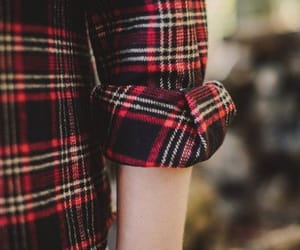 aesthetic, plaid, and red image