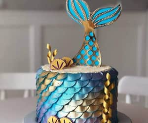 cake and mermaid image