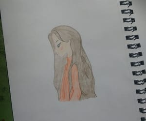 dibujo, lápiz, and niña image