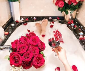relax, rose, and bath image