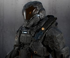 aesthetic, helmet, and scifi image