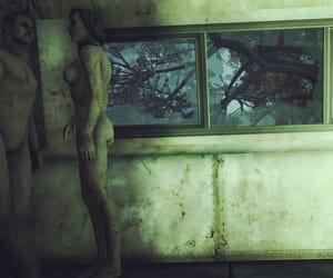 bus, mannequin, and disrepair image