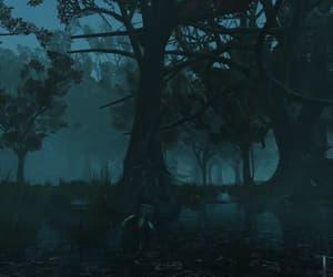 blue, swamp, and dark image