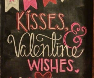 kisses, february 14, and be my valentine image