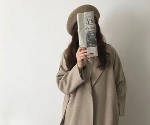 aesthetic, girl, and brown image