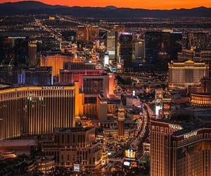 city, Las Vegas, and desert image