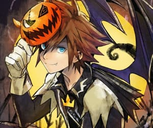 Halloween, kingdom hearts, and sora image
