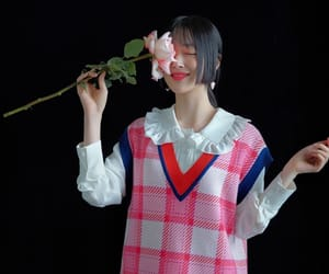 flower, model, and pretty image