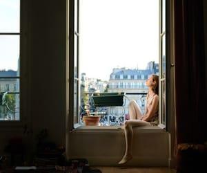 girl, window, and paris image
