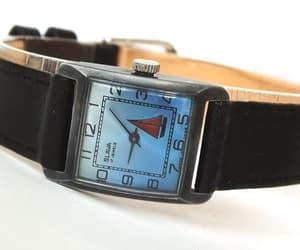 blue watch, mechanical watch, and women watch image