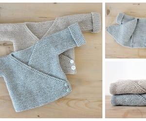 cardigan, kimono, and knitting image