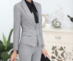 modest, work outfit, and suit image