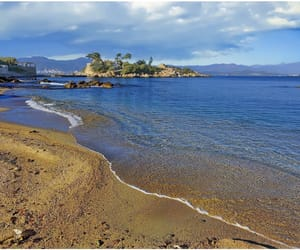 Bleu, plage, and corse image