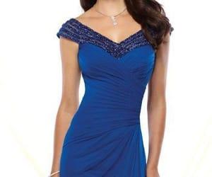 blue dress, modest, and modest dress image