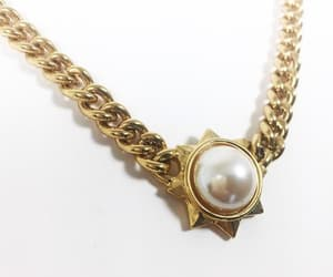 etsy, pendant necklace, and faux pearl image
