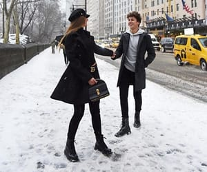 chic, fashion, and snow image