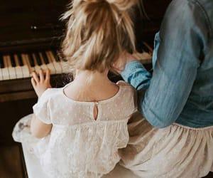 kids, nice, and piano image