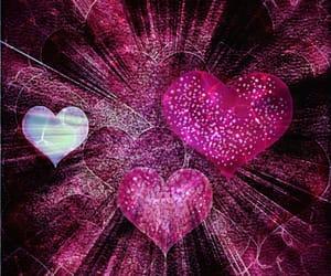 art, digital art, and hearts image