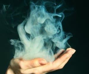 smoke, hand, and grunge image