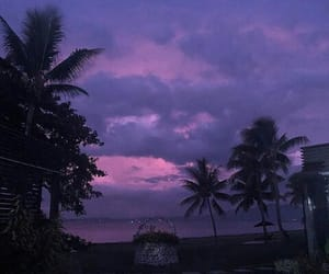 beautiful, purple, and sky image