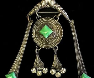 etsy, antique brooch, and peking glass pin image