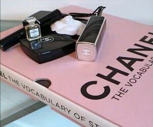 chanel, pink, and book image