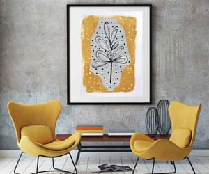etsy, flower, and yellow black image