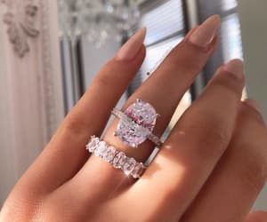 diamond, ring, and nails image