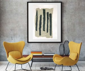 etsy, wall art, and blue grey image