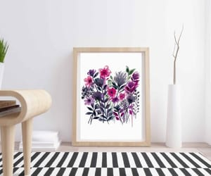 etsy, floral design, and floral print image