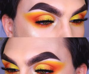 amarillo, fuego, and maquillaje image