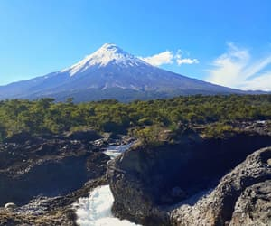 river, travel, and volcán image