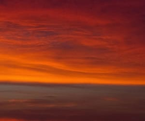 clouds, fly, and orange image