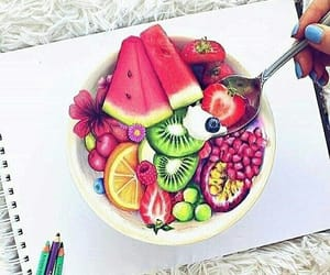 fruit, art, and drawing image