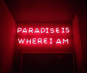 neon, paradise, and red image
