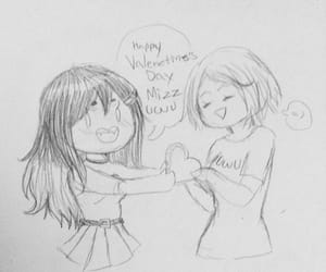 cuteee, friendship, and doodle image