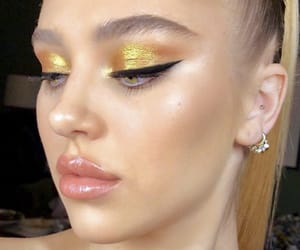 eyebrows, glam, and gold image